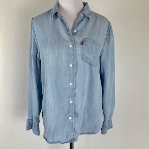Levi's Boyfriend Fit Chambray Button Down Shirt S